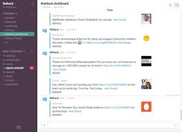 social media dashboard social media dashboard on slack smhack