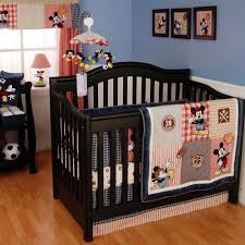 mickey mouse crib sheet set vintage mickey 4 piece baby crib bedding set by kidsline baby