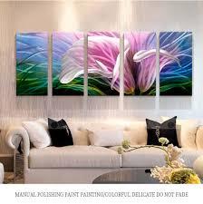 china purple blossoms flower metal wall