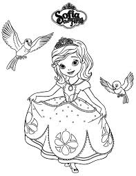 Small Picture Princess Sofia and Robin and Mia in Sofia the First Coloring Page