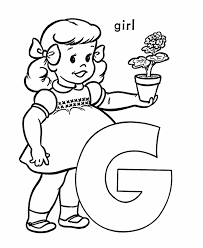Small Picture ABC Alphabet Coloring Sheet G is for Girl English in Theatre