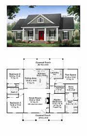 Traditional House Plan 59952 | Total Living Area: 1870 sq. ft., 3