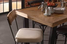 Phillip Herringbone Dining Table Industrial Chic Style Furniture