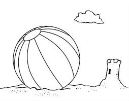 Small Picture Lets Play with a Beach Ball Coloring Page Download Print