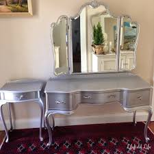 silver painted furniture. Lilyfield Life: Tips On Using Metallic Paint And A Silver Painted Dressing Table Set Furniture Life