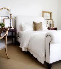 white bedroom with dark furniture. Luxury Bedroom With Dark Wood Nightstand, White Comforter Bedding Set, Set Furniture