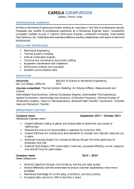 Engineering Skills Resume Mechanical Engineer Resume Samples And Writing Guide
