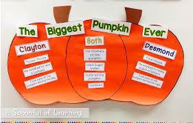 Pumpkin Venn Diagram A Spoonful Of Learning Pumpkin Week