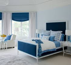 scheme blue and white bedroom