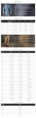 Levis 511 Size Chart 36 Accurate Levi Waist Size Chart