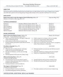 Best Nursing Resume Template Mesmerizing Example Nursing Student Resume Dadajius