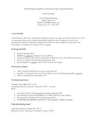 Resume Objective Examples Quality Control Resume For Study