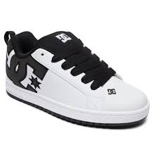 dc shoes mens trainers court graffik white leather padded skate shoes 8s 27 xkww