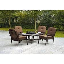 Amazon 5 piece Patio Conversation Set with Fire Pit Set