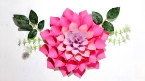 Dahlia Flower Making With Paper Diy Paper Flowers How To Make Dahlia Flowers Paper Decorations Little Crafties