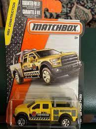 Matchbox 38 2015 Ford F 150 Yellow Pickup Truck Mbx Construction Ebay Matchbox Matchbox Cars Tonka Truck