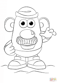 Small Picture Mr Potato Head coloring page Free Printable Coloring Pages