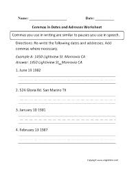 Math. comma worksheets for middle school: Punctuation Worksheets ...