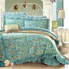 super design ideas artsy bedding sets teal green fl retro comforter queen size twin