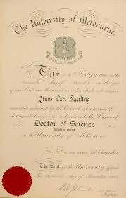 University Of Melbourne Diploma Doctor Of Science Honoris Causa
