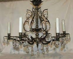 how to rewire a chandelier arm antique vintage 6 arm ornate brass chandelier rewired made in