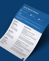 2 Page Cv Template Blue Header Modern Double Page Cv Resume