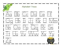 Letter Tracing Templates Printable Alphabet Tracing Worksheets For Kindergarten Free