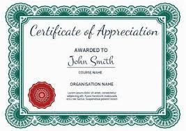 Certificate Of Appreciation Free Download Certificate Of Appreciation Word Template Free Download 100