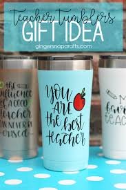 Ginger Snap Crafts Teacher Tumblers With Cricut Tutorial