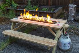 rustic outdoor furniture with fire pit