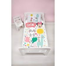 disney minnie mouse childrenâ s cot bed duvet junior toddler bedding duvet cover little friends design on on