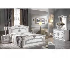 alexandra white finish bedroom set