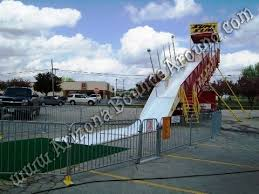 a big carnival slide for your next carnival themed event our 30 foot tall 3 lane fiberglass slide is just like the one you see at the fair and comes