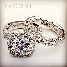 tacori wedding rings. this is my absolute dream engagement ring/band combination. custom tacori ring and wedding band with combined carat weight of style no. rings e