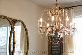 how to make a restoration hardware crystal orb chandelier vintage romance style featured on remodelaholic