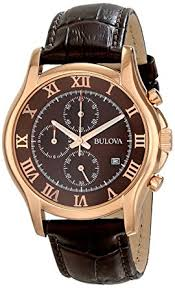 amazon com bulova men s 97b120 chronograph rose gold strap watch bulova men s 97b120 chronograph rose gold strap watch