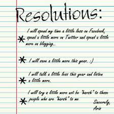 my new year s resolution edition