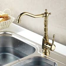 luxury gold chrome finish kitchen faucet
