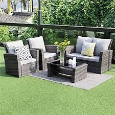 Outdoor furniture set Brown Image Unavailable Amazoncom Amazoncom Wisteria Lane Piece Outdoor Patio Furniture Sets