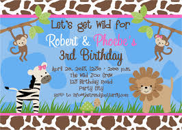 Free Printable Safari Birthday Invitations Free Printable Safari Birthday Invitations Birthdaybuzz