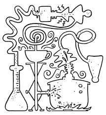 Scientist Coloring Page V4257 Scientist Coloring Page Free Science