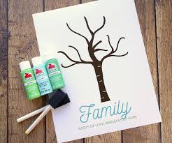 Making A Family Tree For Free Make An Adorable Family Handprint Tree Great Gift Idea
