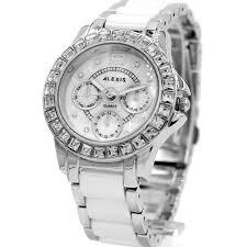 Ladies Rose Jewelry Shipping Requirements Free Gold Women Bracelet Alexis Quartz Ceramic White Silver Fashion Water com au Brand It Black Watch Resist