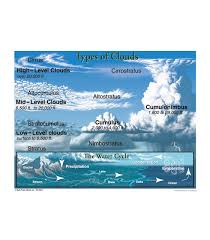 Types Of Clouds Chart Grade 4 8