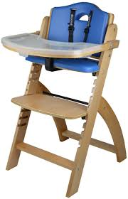 abiie beyond wooden high chair with tray the perfect adjule baby highchair solution for your es and toddlers or as a dining chair