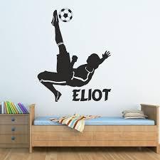 football bedroom ideas. football wall stickers kids bedroom boys footballer sticker personalised vinyl football ideas