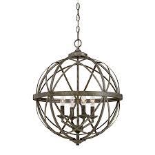 millennium lighting lakewood 20 in antique silver industrial single orb pendant
