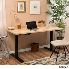 Wendell 55-inch Adjustable Wood Standing Desk with Dual Powered Base by  Christopher Knight Home - Free Shipping Today - Overstock.com - 18658705
