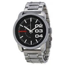 diesel black dial stainless steel men s watch dz1370 diesel diesel black dial stainless steel men s watch dz1370
