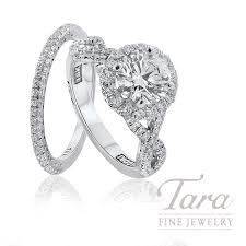 tacori 18k white gold diamond halo wedding set 1 70tdw center stone sold separately